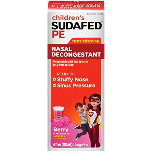 Sudafed PE Children's Nasal Decongestant, 24 Count