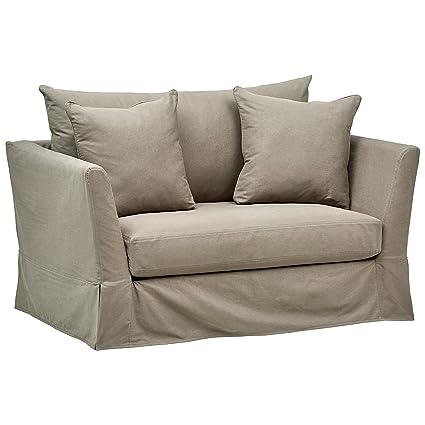 Amazon.com: Stone & Beam Bartow Casual Slipcover Living Room Chair ...