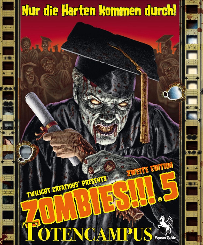 Pegasus Spiele 54140G - Zombies!!! 5: Totencampus, Juego de Mesa (2ª edición) [Importado de Alemania]: Amazon.es: Juguetes y juegos