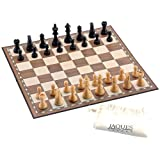 "Superior Chess Set and Board - 3.5"" Chess Set with 18"" Folding Chess Board-Jaques of London-"
