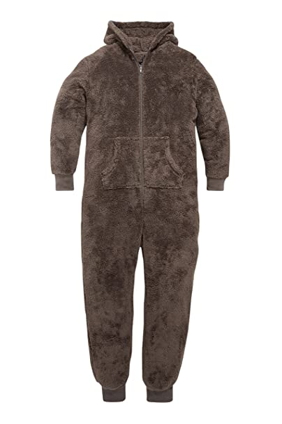 next Hombre Pijama De Una Pieza Mono Con Capucha Oso Cierre De Cremallera
