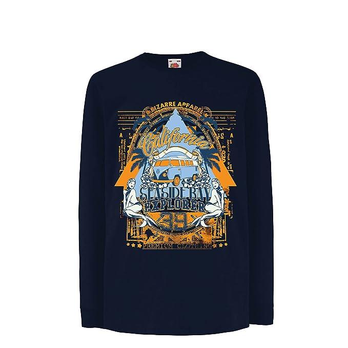 lepni.me Camiseta para Niño/Niña Primer Día de California - Explorador de la Bahía Costera - Ropa de Surf: Amazon.es: Ropa y accesorios