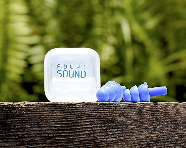 Ear Plugs (Blue) Reduce Loud Noise When Sleeping Or Concerts, Music Events, Shooting Range, Construction Work, Motor Sports Racing, Made Of Soft Hypoallergenic Silicone To Be Reusable & Comfortable