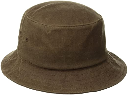 c3f4a259842c84 HUF Men's Waxed Canvas Bucket Hat - Brown -: Amazon.co.uk: Clothing