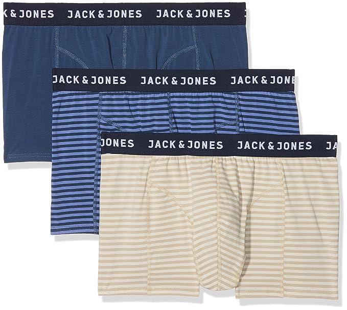 JACK & JONES Jacstyle 2 Trunks, Bóxer para Hombre, Azul (Dark Detail: