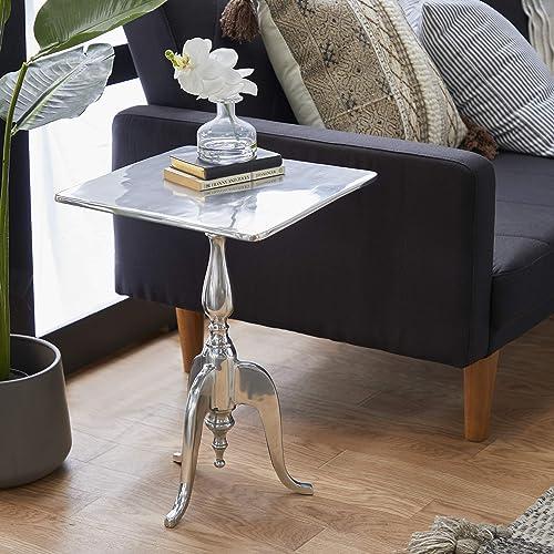 Deco 79 Aluminum Square Accent Table