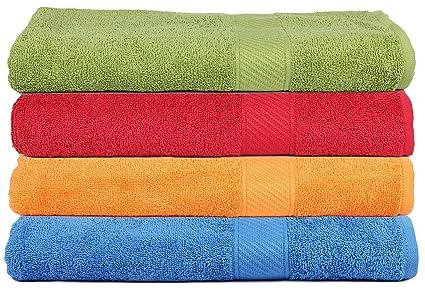 Trident luz y suave 100% algodón peinado juego de toallas, 400 g/m²