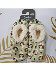 Shih Tzu Super Soft Women's Slippers - One Size Fits Most - Cozy House Slippers - Non Skid Bottom - perfect for Shih Tzu gifts zy House Slippers - Non Skid Bottom - perfect for Shih Tzu gifts