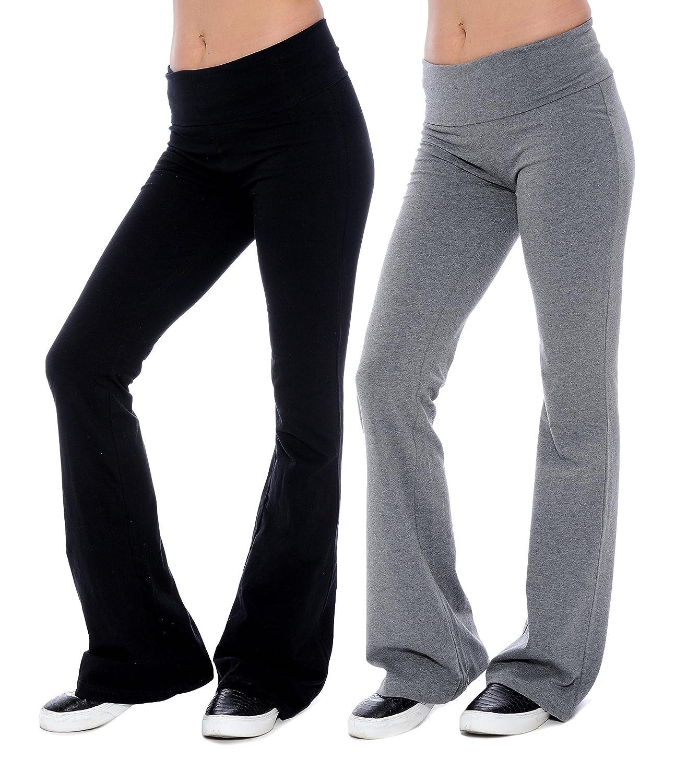 Unique Styles PANTS レディース B01BUDY8DU L|2 Grey & 2 Black 2 Grey & 2 Black L
