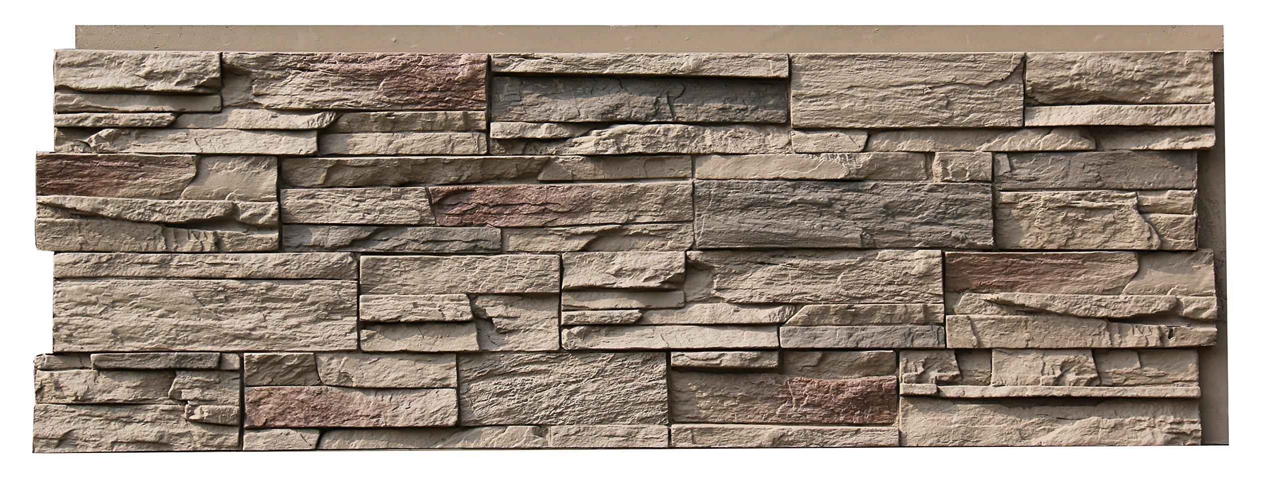 NextStone Polyurethane Faux Stone Panel - Country Ledgestone - Teton Buff (4 Panels per Box) by NextStone