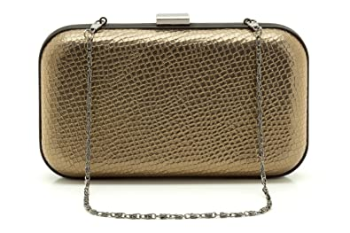 Clarks Jersey Girl Ladies Gold uk Bag Clutch One Amazon Size co Oxgxwqd