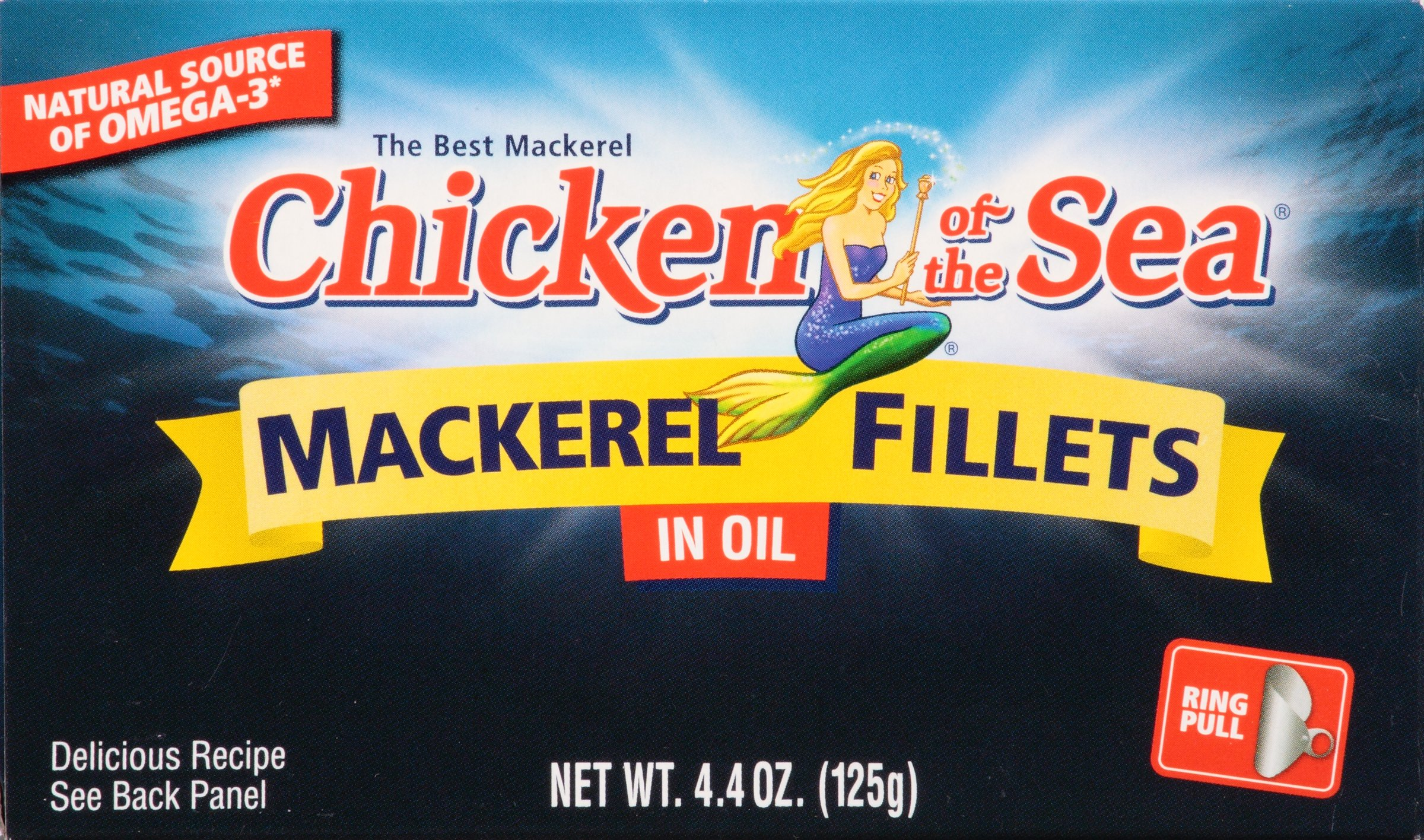 Chicken of the Sea Chicken of the Sea Mackerel Fillet 4.4 oz, Mackerel Fillet, 24 Count (Pack of 24) by Chicken of the Sea