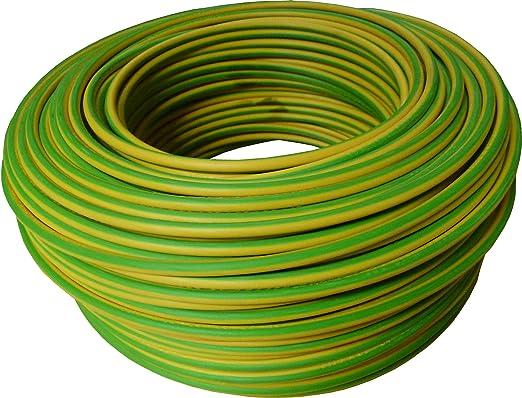 Sezione 1x2.5 mm Electraline 15171 Cavo Unipolare N07V-K 10 mt Verde//Giallo