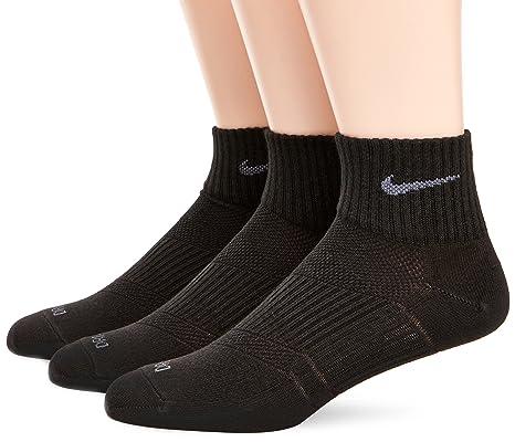 Nike Calze corte dri-fit unisex adulti, 3 paia, Nero/Grigio Selce