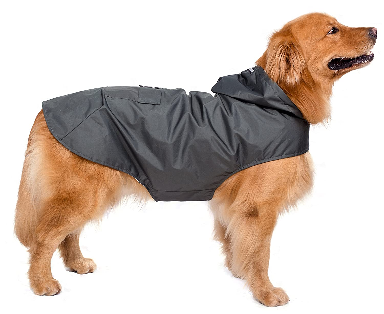 BPS® Chubasqueros Impermeables para Mascotas Perros, Impermeables con Capucha para Perro Mediano y Grande 3 Colores para Elegir con Material 100% Poliéster ...