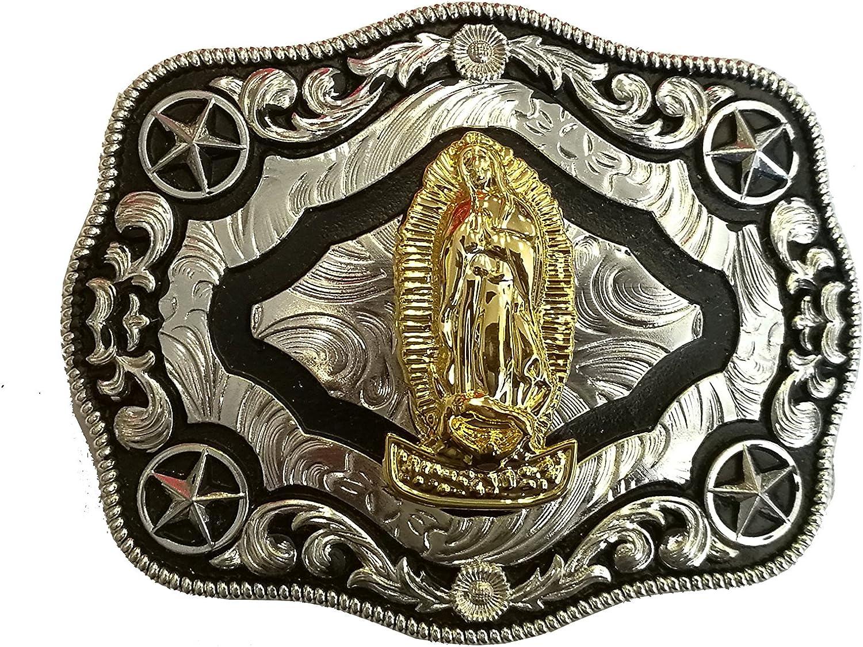 West Star Texas Bright Reflective Eye Catcher Head Turner Cowboy BullRider Buckle Cowboy 4.5x3.5