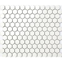 Hexagon estructura cerámica mosaico azulejos Mate en blanco