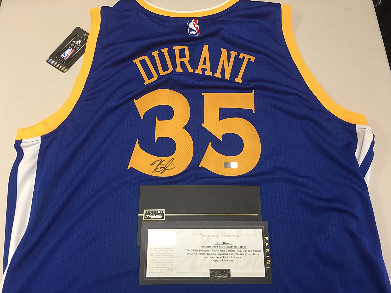 23a69cc2fd7 ... hot kevin durant autographed signed golden state warriors blue jersey  certified authentic panini hologram coa card