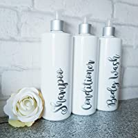 Reusable pump bottle / 500ml bottle/hinch bottle/bathroom bottle/bathroom toiletries bottle/mrs hinch bottle/shampoo bottle/bath soak bottle