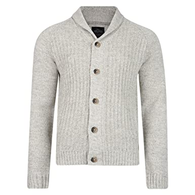 e0fb1d51512 Threadbare Mens Shawl Neck Textured Wool Blend Buttoned Cardigan Top S-XXL  (L