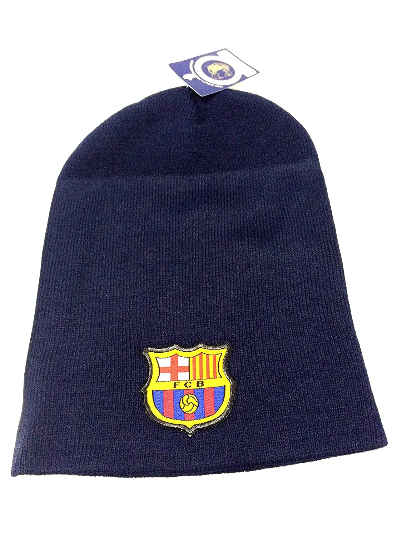 Amazon.com : FC BARCELONA NAVY LONG CUFFLESS BEANIE (OSFM) : Sports & Outdoors