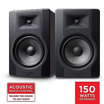 """M-Audio BX8 D3 Pair – Par de Monitores / Altavoces activos de estudio bidireccionales, 150 W con woofer de 8"""" para producción musical y mezcla de ..."""