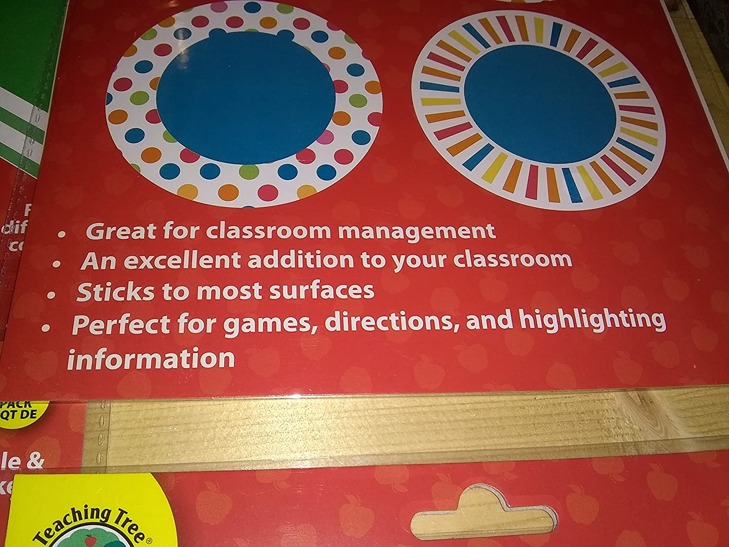 Assorted, Styles /& Quantities Vary Teaching Tree Floor Wall Decor Removable /& Repositionable Stickers 4-Pack