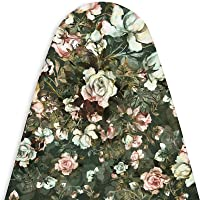 Encasa Homes Ironing Board Cover (L-110 to 115cms × W 30-34cms) 'Luxury Line' with Extra Thick PAD- (Printed)