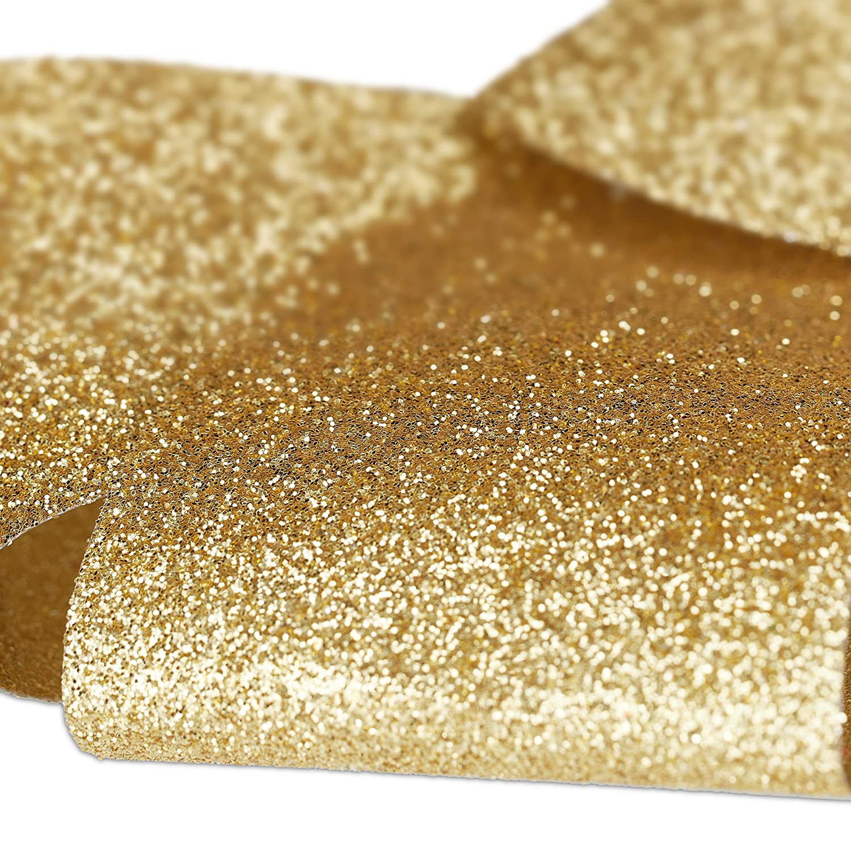 Weihnachten Schleifen Set Dekoschleifen Geschenk Relaxdays 6 x Geschenkschleife Glitzer gro/ße Zierschleife Geburtstag Gold
