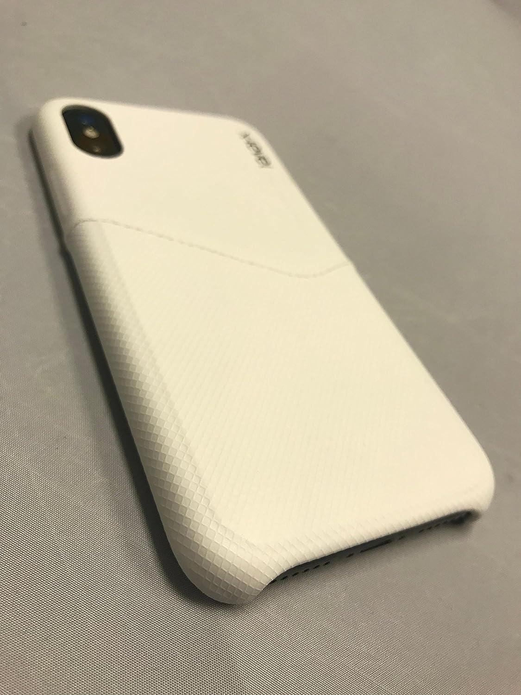 iPhone Xプレミアムレザーケース(カードスリーブ付き)(ホワイト)   B077CKC7BM