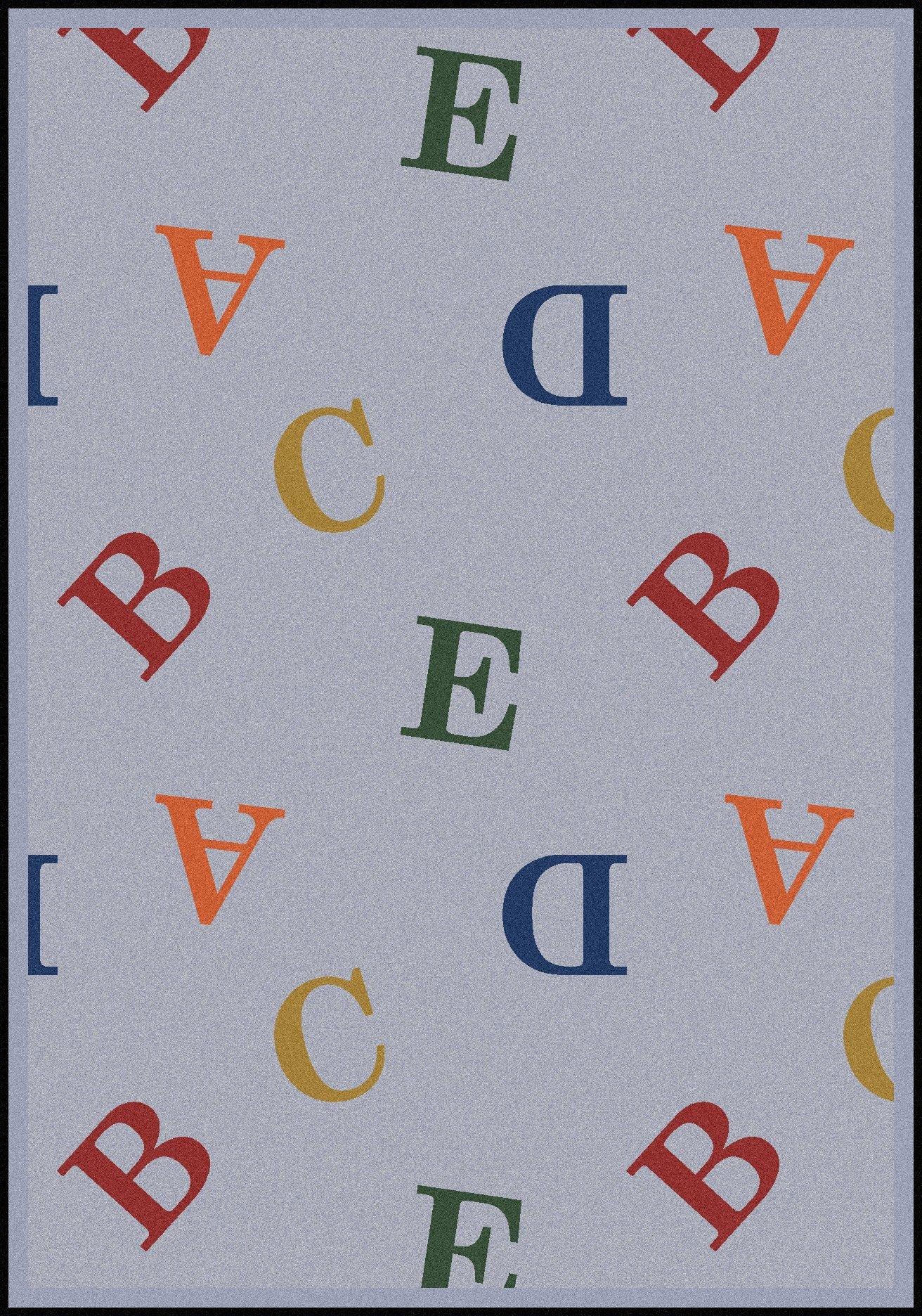 Joy Carpets Playful Patterns Children's Love Letters Area Rug, Chimney Sweep, 7'8'' x 10'9''