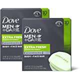 Dove Men+Care Bar 3 in 1 Cleanser for Body, Face, and Shaving to Clean and Hydrate Skin Extra Fresh Body and Facial…
