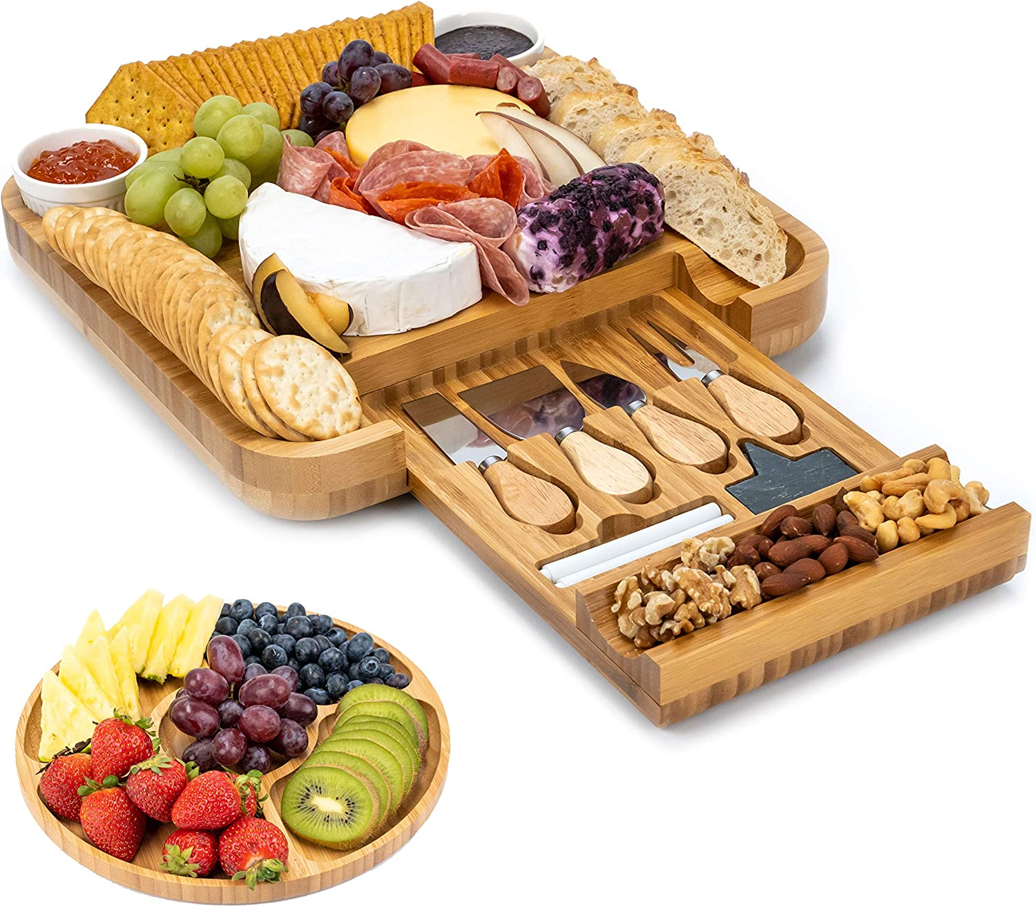 Smirly Cheese Board & Knife Set $28.88