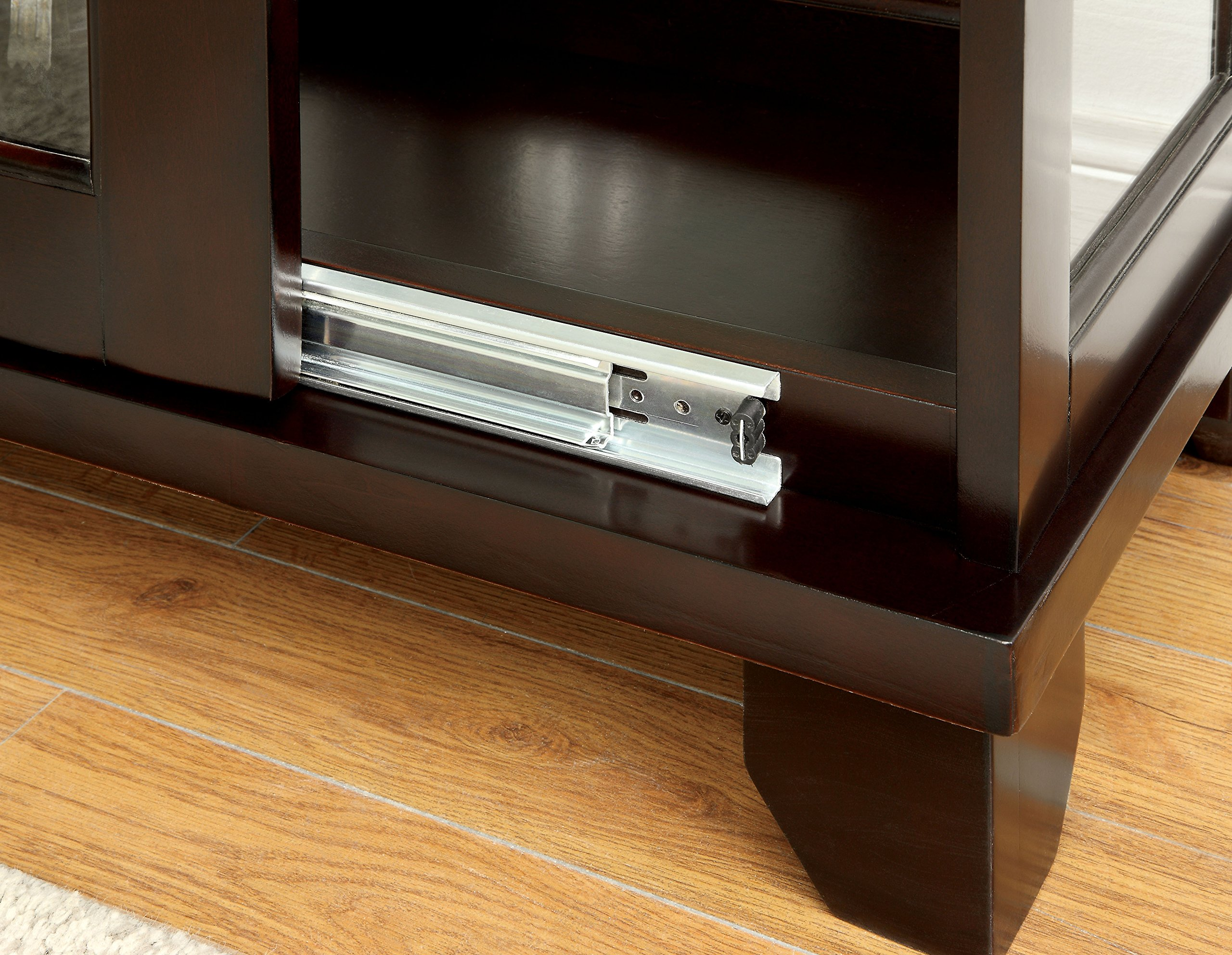 HOMES: Inside + Out Curio Alecie Cabinet with Built In Light, Dark Walnut by HOMES: Inside + Out