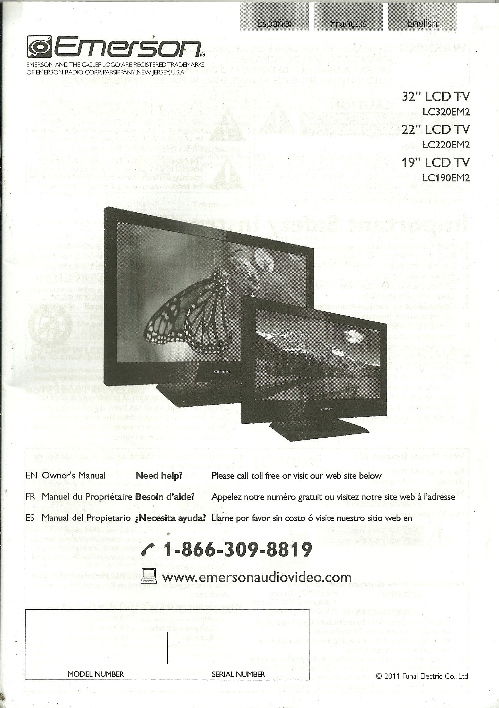 emerson tv owner s manual lc320em2 lc220em2 lc190em2 emerson rh amazon com emerson 32 lcd tv lc320em2 manual Emerson LC320EM2 Service Manual