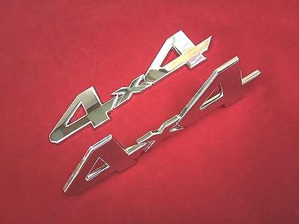 New Car Chrome Metal 3D 4X4 Displacement Emblem Badge Auto Motor Stickers Decals