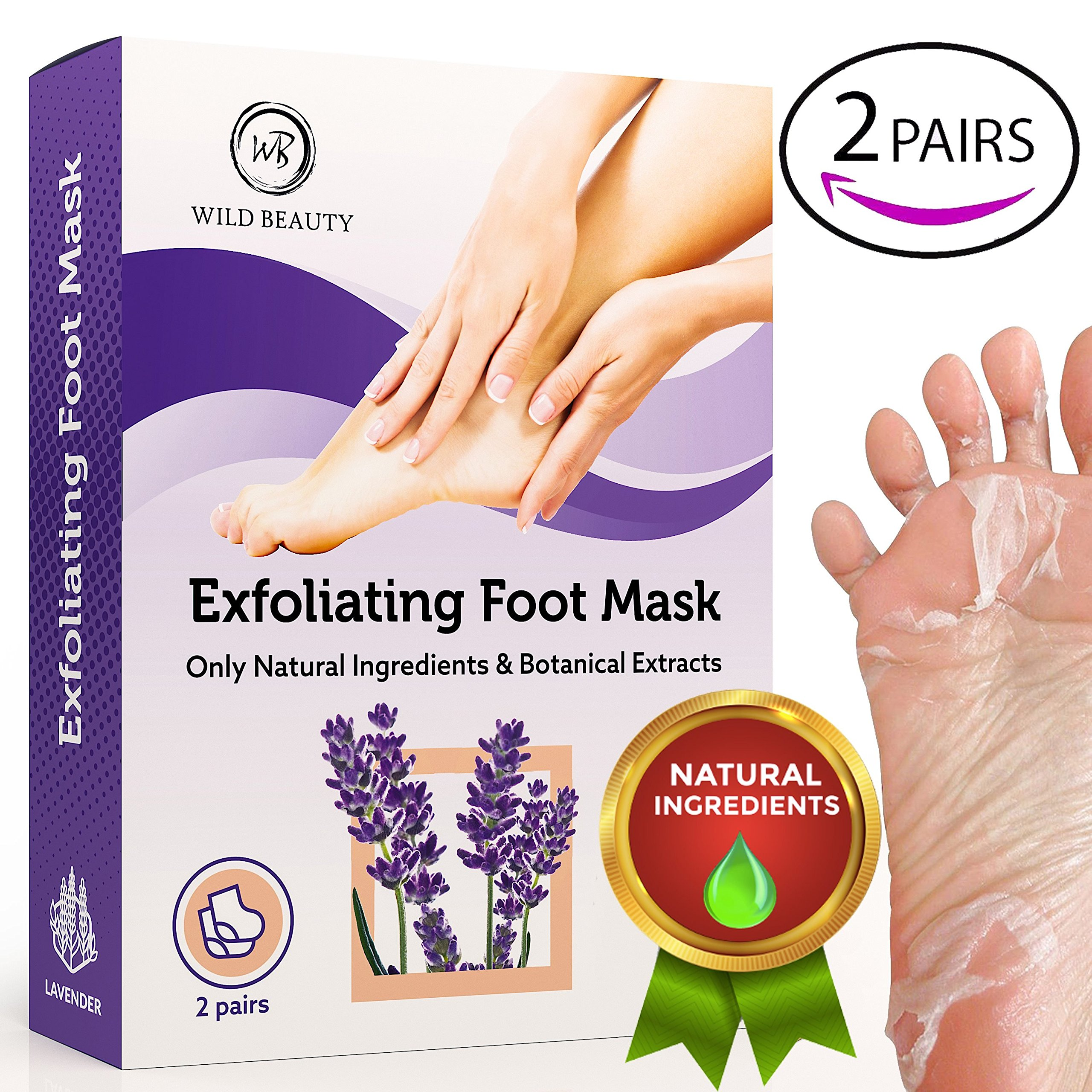 NEW 2018 Exfoliating Foot Peel Mask For Soft Touch 2 Pairs Baby Foot Peel - Peeling Away Calluses Dead Skin Remover for Feet - Repair Rough Heels - Lavender Baby Feet