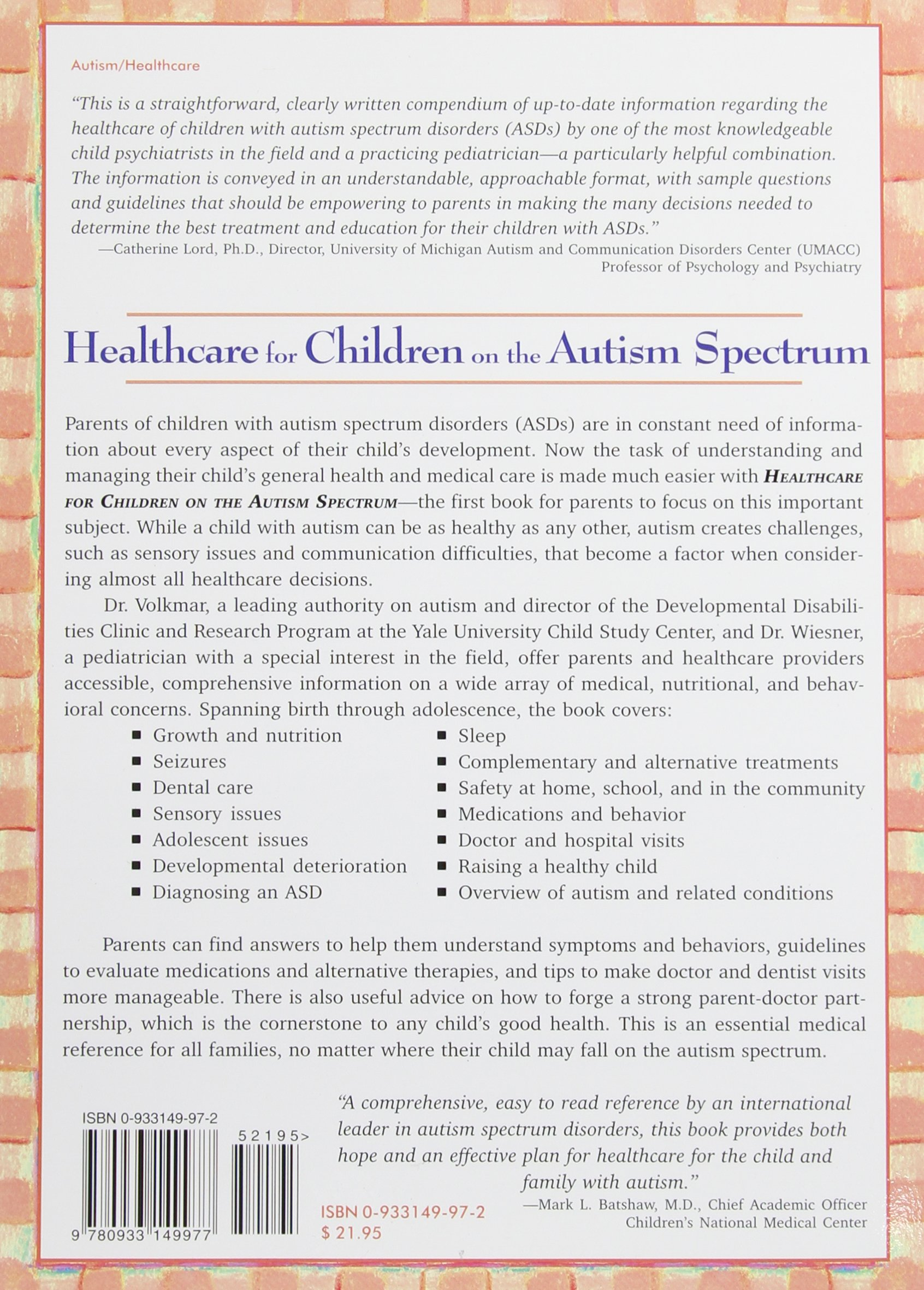 Healthcare for Children on the Autism Spectrum A Guide to Medical
