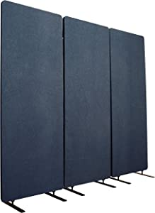 "S Stand Up Desk Store ReFocus Acoustic Room Dividers | Office Partitions – Reduce Noise and Visual Distractions with These Easy to Install Wall Dividers (72"" X 66"", Midnight Blue)"