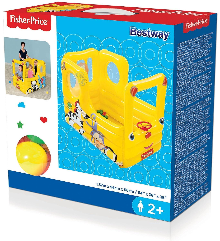 Bestway-93506 Autobús Escolar Hinchable con Bolas, Color Amarillo (93506): Amazon.es: Juguetes y juegos