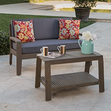 Amazon.com : Great Deal Furniture Christian Outdoor Grey Finished ...