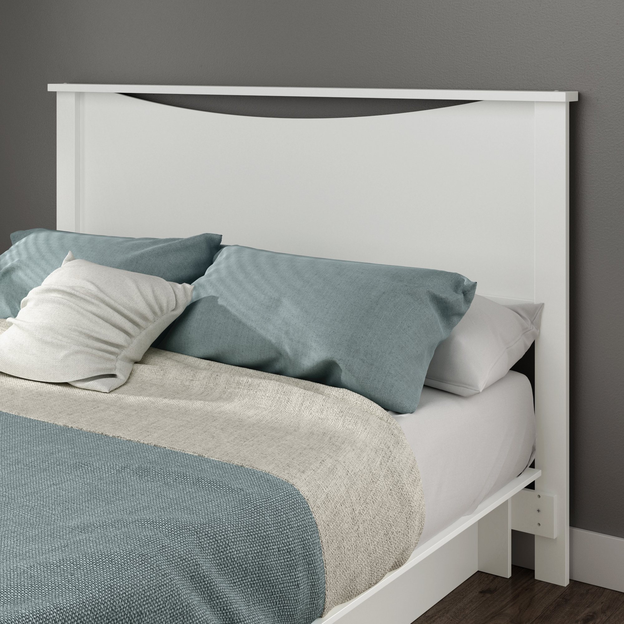 South Shore Gramercy Full/Queen Headboard (54/60''), Pure White