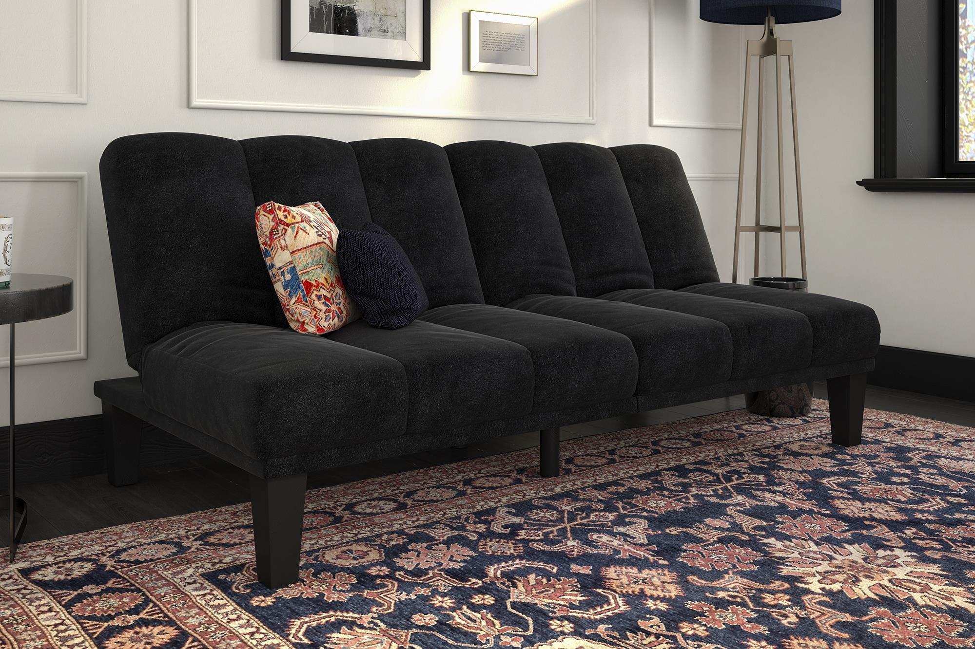 DHP Hamilton Sofa Sleeper, Black by DHP