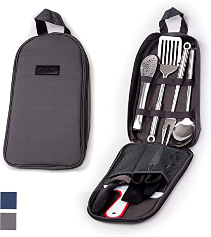 Outdoor Camping Grill Spatula Spoon Picnic BBQ Cooking Utensil Cookware