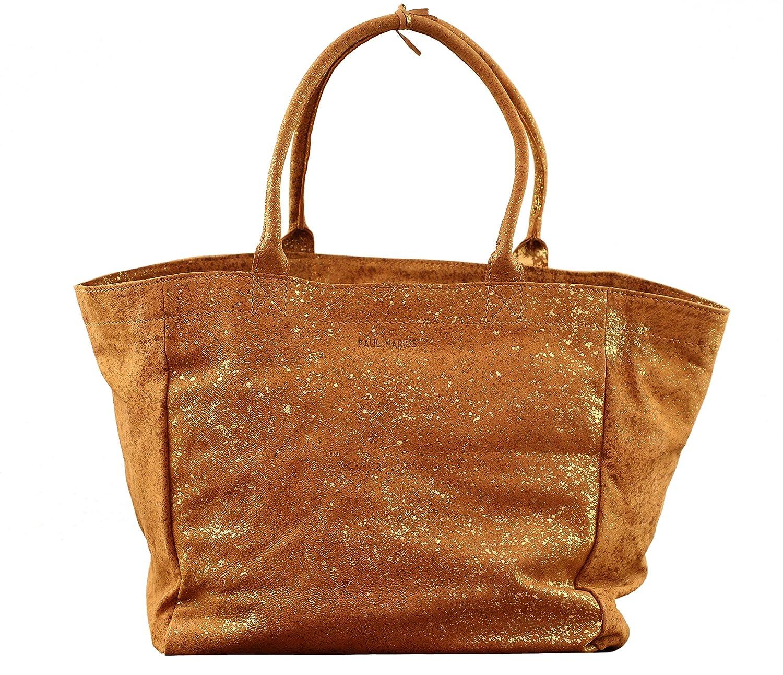 MON PARTENAIRE M Eclats Dorés cabas en cuir sac à main style vintage PAUL MARIUS