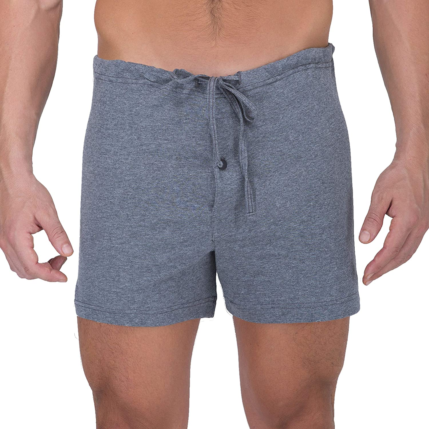 ae1a2d03a7f55 Cottonique Men s Latex-Free Drawstring Loose Boxer Short made from 100%  Organic Cotton M17713