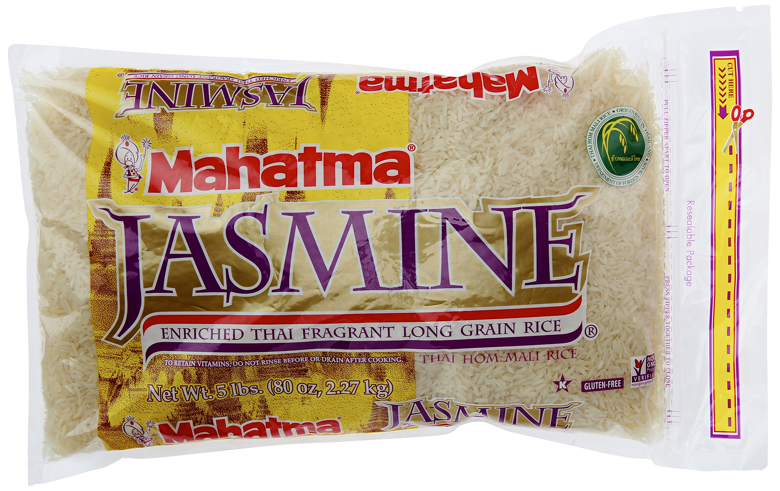 Riviana Foods Mahatma Jasmine Rice Enriched, 5 lb by Riviana Foods
