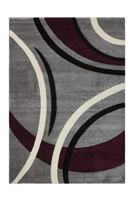 Lalee  347166886  Moderner Designer Teppich   Konturenschnitt    Silber   TOP Preis   Grösse   160 x 230 cm