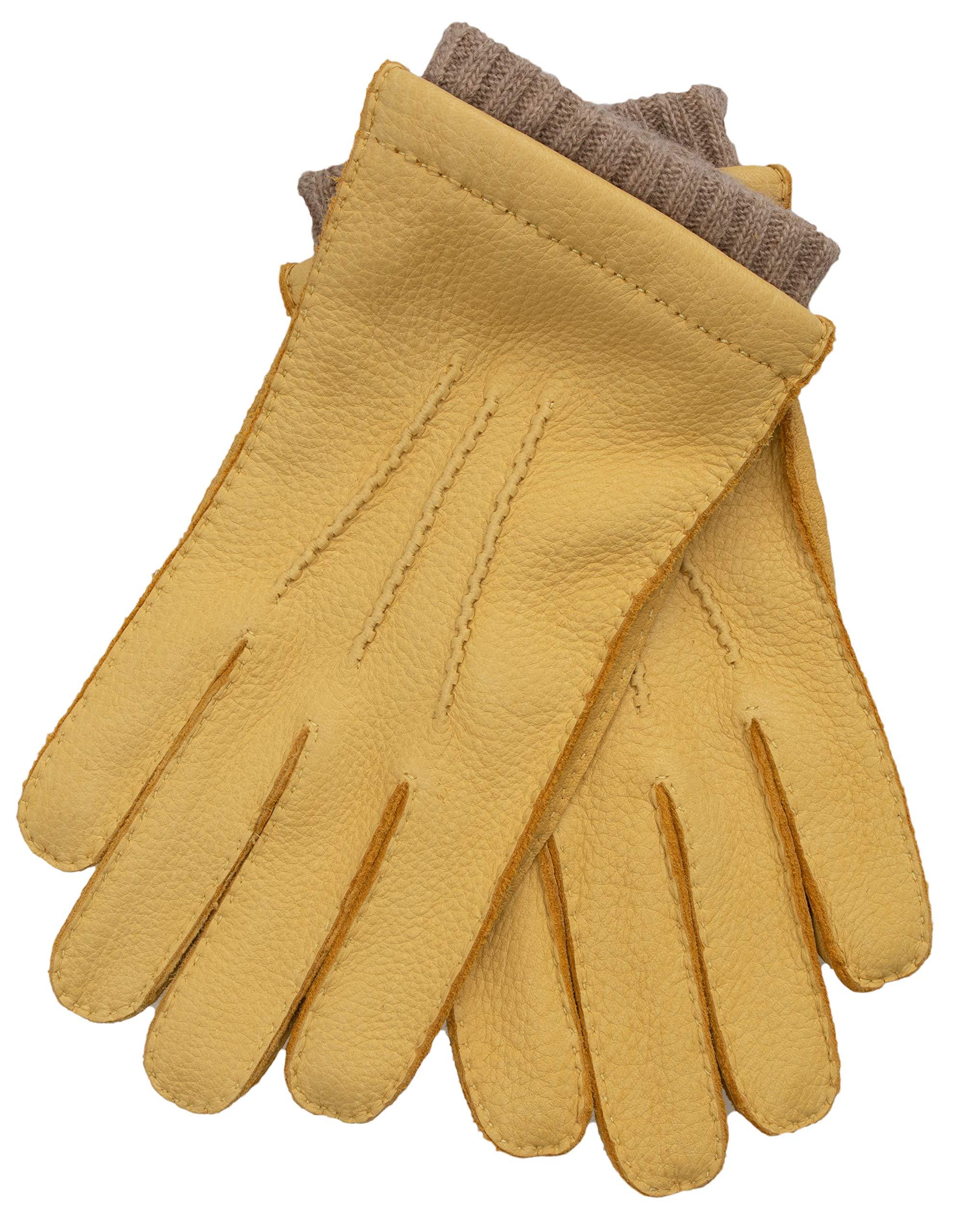 4a58fbcb0aaf EEM gants EDGAR pour hommes en peau de cerf, cousu à la main, doublure