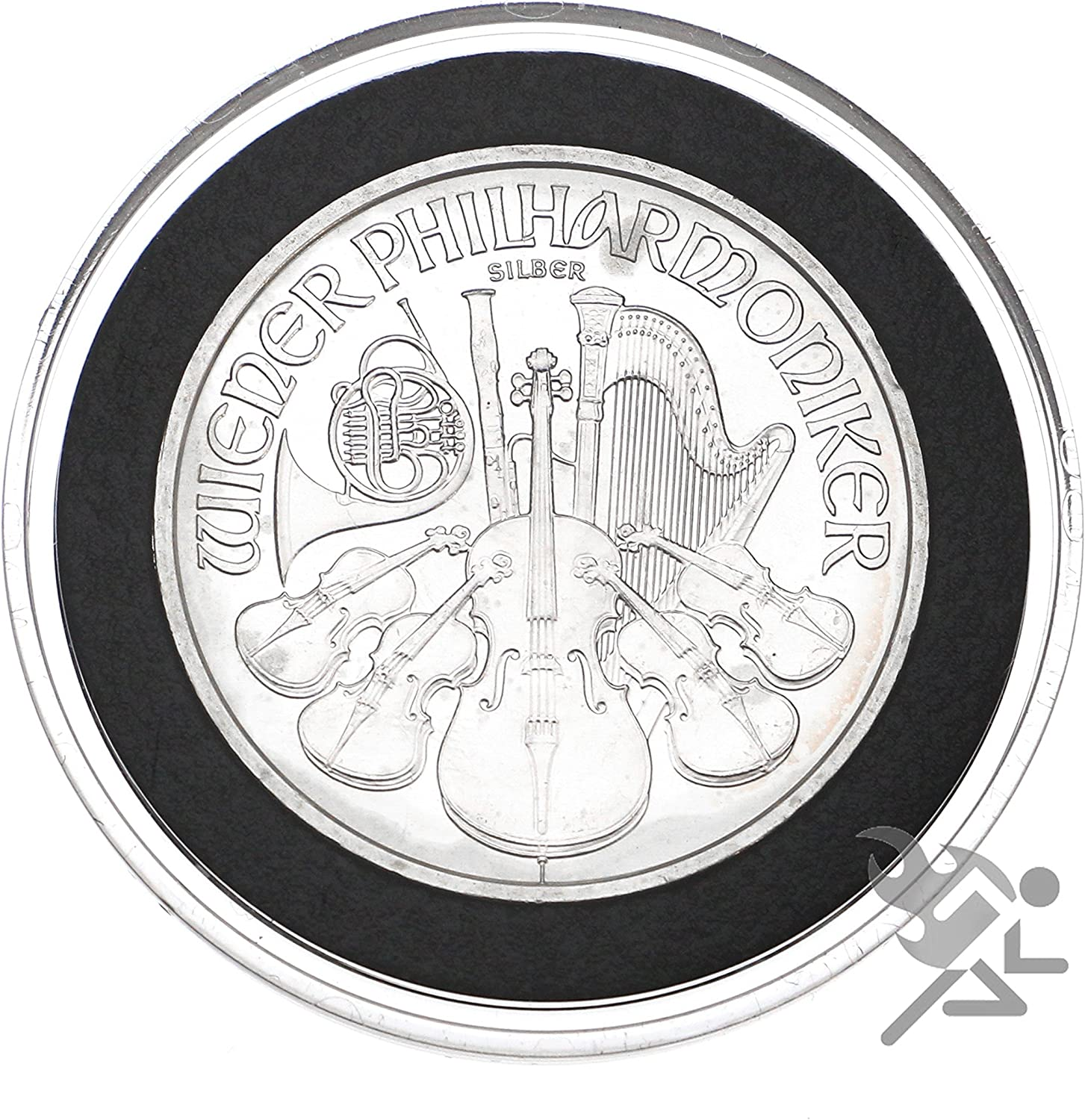 25 Air-tite 37mm Black Ring Coin Holder Capsules for 1oz Gold /& Silver Philharmonics and $7 Silver Strikes Token